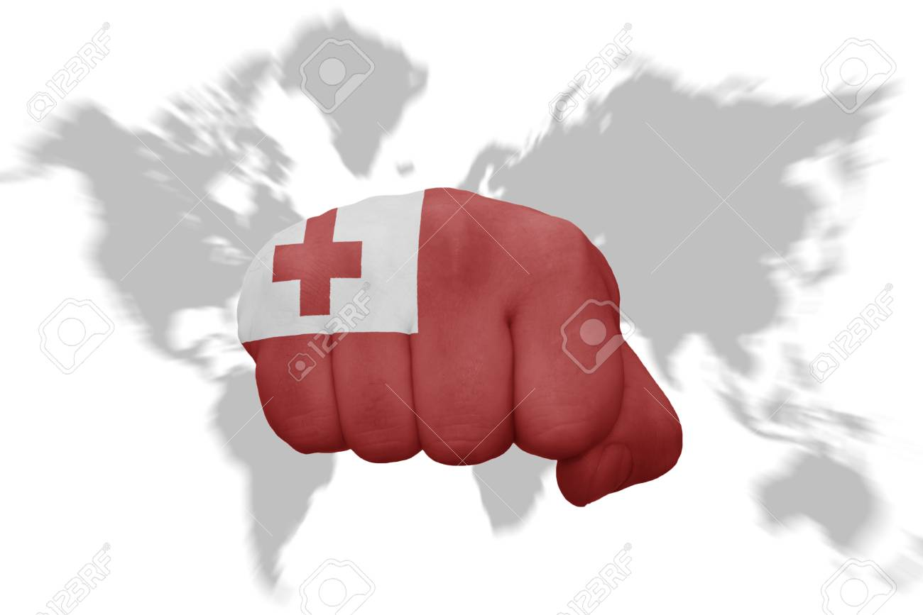 Fist with the national flag of tonga on a world map background fotos fist with the national flag of tonga on a world map background foto de archivo gumiabroncs Choice Image