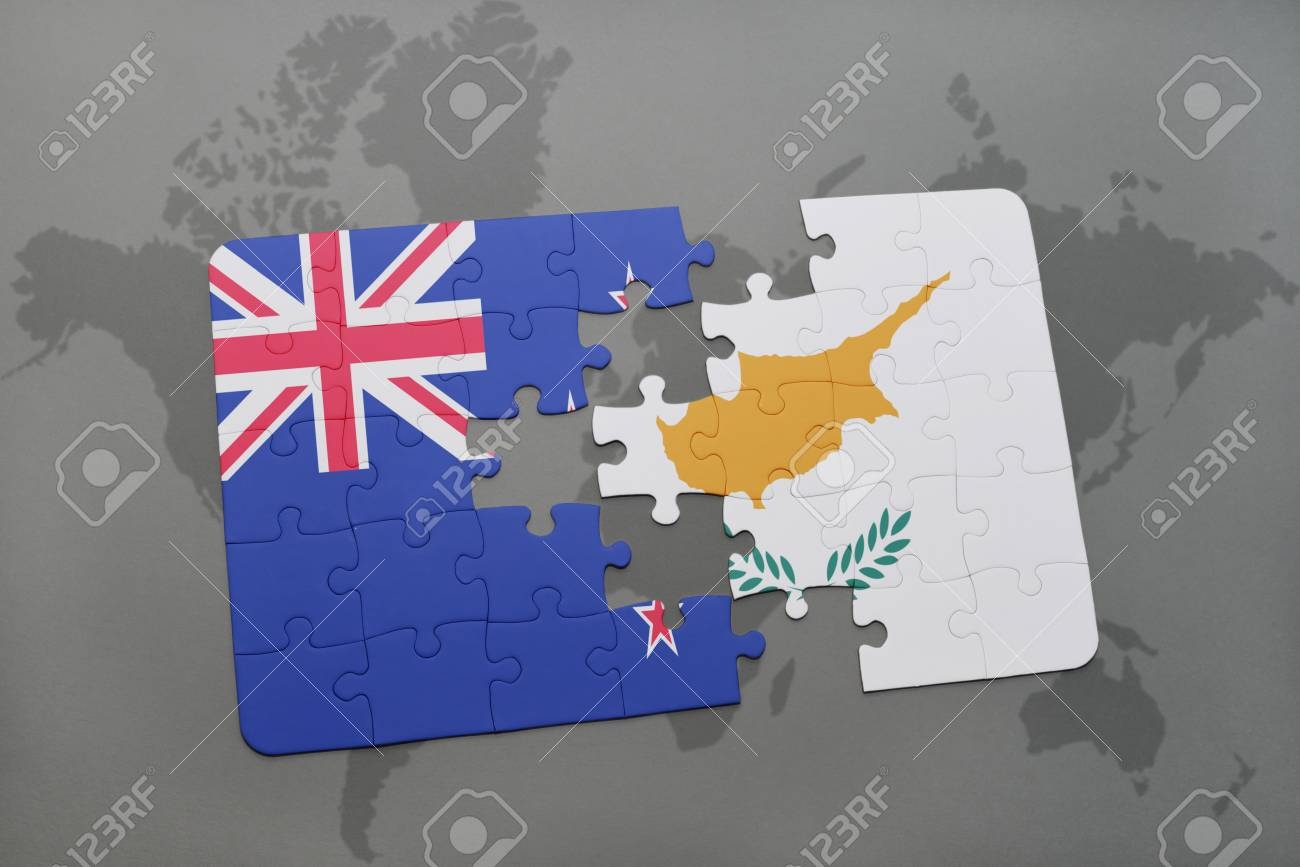 Puzzle with the national flag of new zealand and cyprus on a stock illustration puzzle with the national flag of new zealand and cyprus on a world map background 3d illustration gumiabroncs Image collections