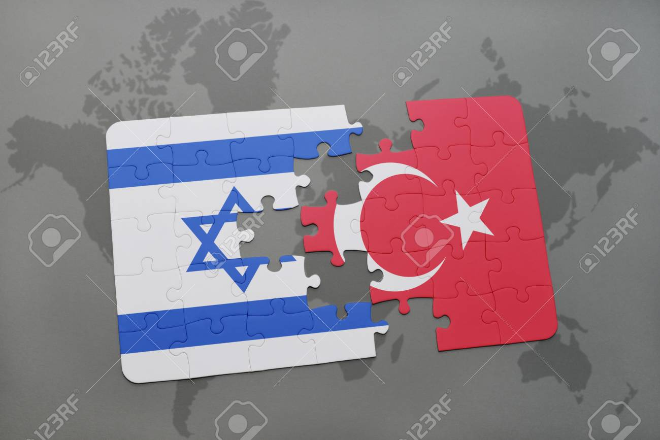 Puzzle with the national flag of israel and turkey on a world puzzle with the national flag of israel and turkey on a world map background 3d gumiabroncs Image collections