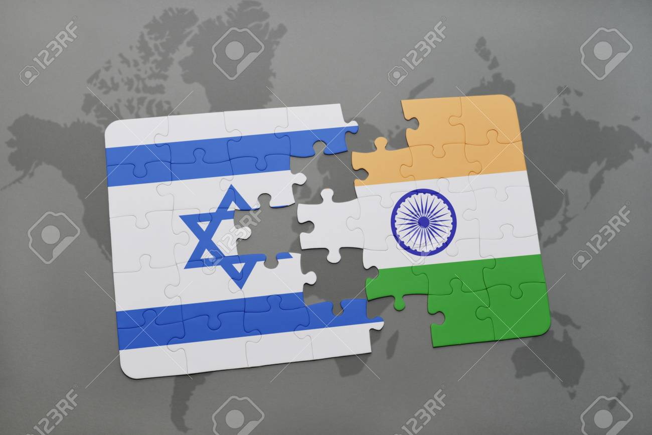 Puzzle with the national flag of israel and india on a world stock illustration puzzle with the national flag of israel and india on a world map background 3d illustration publicscrutiny Images