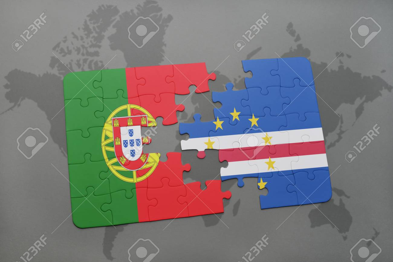 Puzzle with the national flag of portugal and cape verde on a illustration puzzle with the national flag of portugal and cape verde on a world map background 3d illustration gumiabroncs Gallery