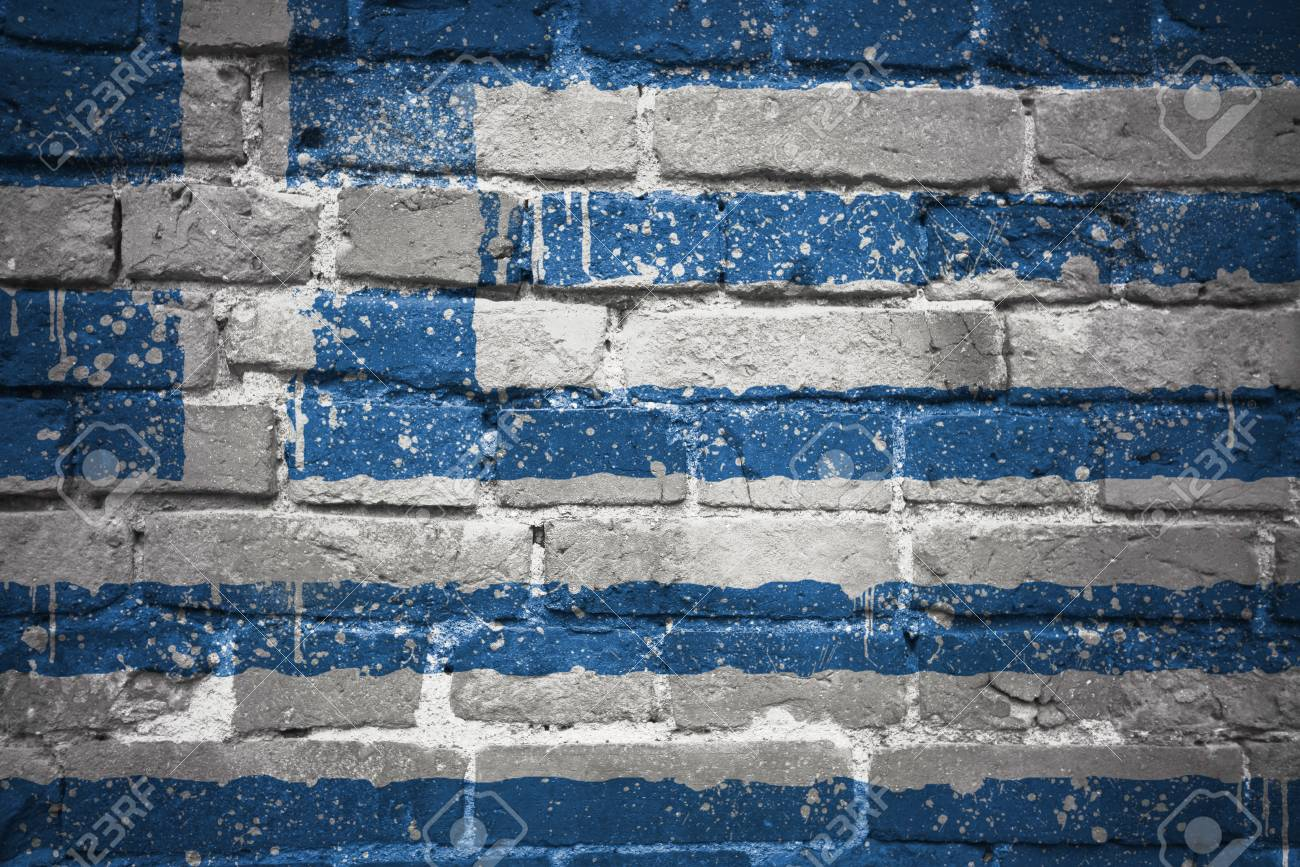 Colorful Painted National Flag Of Greece On A Old Brick Wall Stock Photo Picture And Royalty Free Image Image 72534008