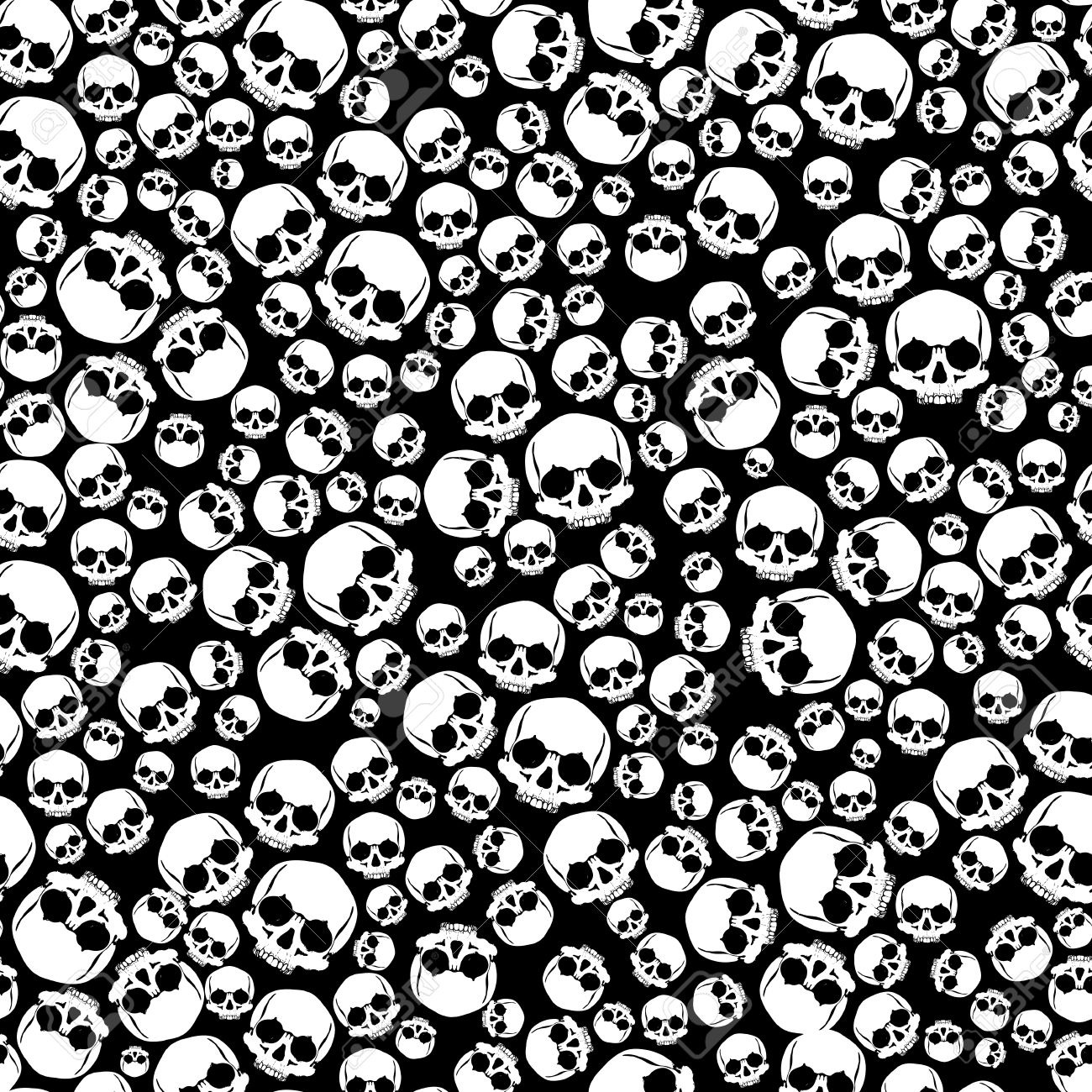 Pattern pirate skull wallpaper for tattoo parlor Stock Photo - 49602444