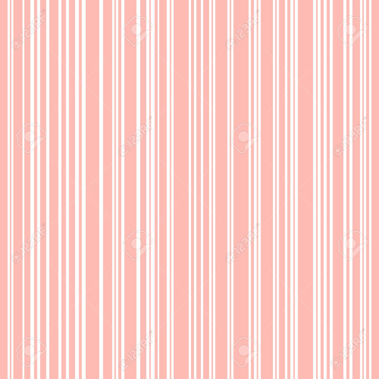 Lines Background Pink And White Stripes Seamless Pattern Stock