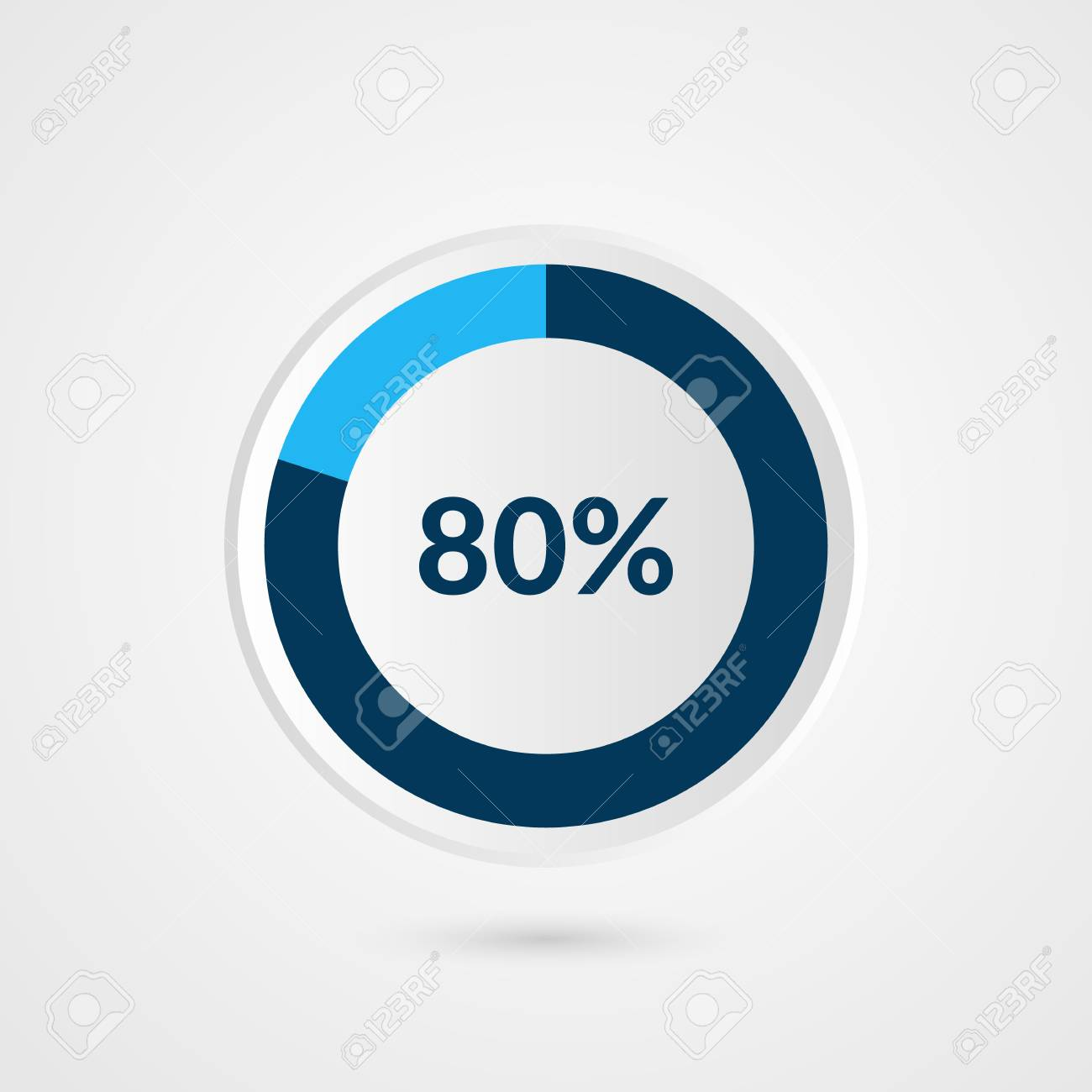 80 percent blue grey and white pie chart percentage vector 80 percent blue grey and white pie chart percentage vector infographics circle diagram business ccuart Image collections