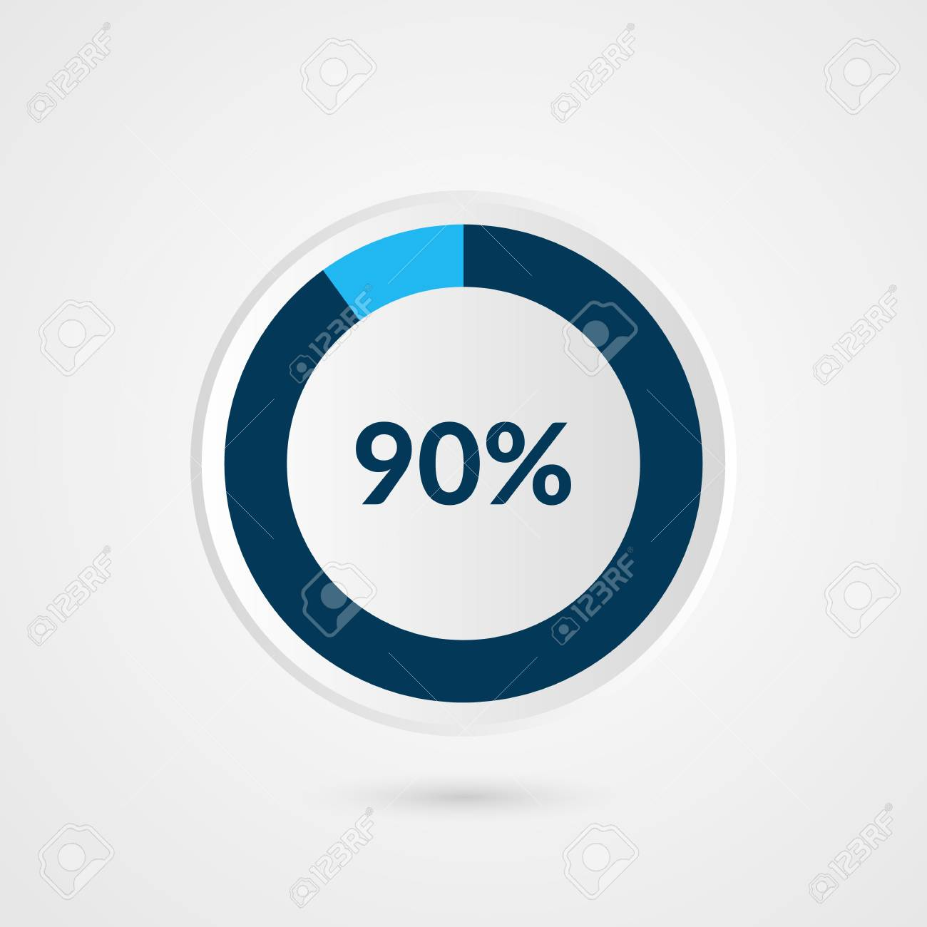 90 percent blue grey and white pie chart percentage vector 90 percent blue grey and white pie chart percentage vector infographics circle diagram business ccuart Image collections