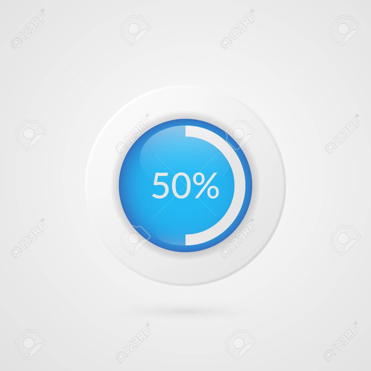 50 percent blue white pie chart percentage vector infographics 50 percent blue white pie chart percentage vector infographics circle diagram isolated symbol on ccuart Image collections