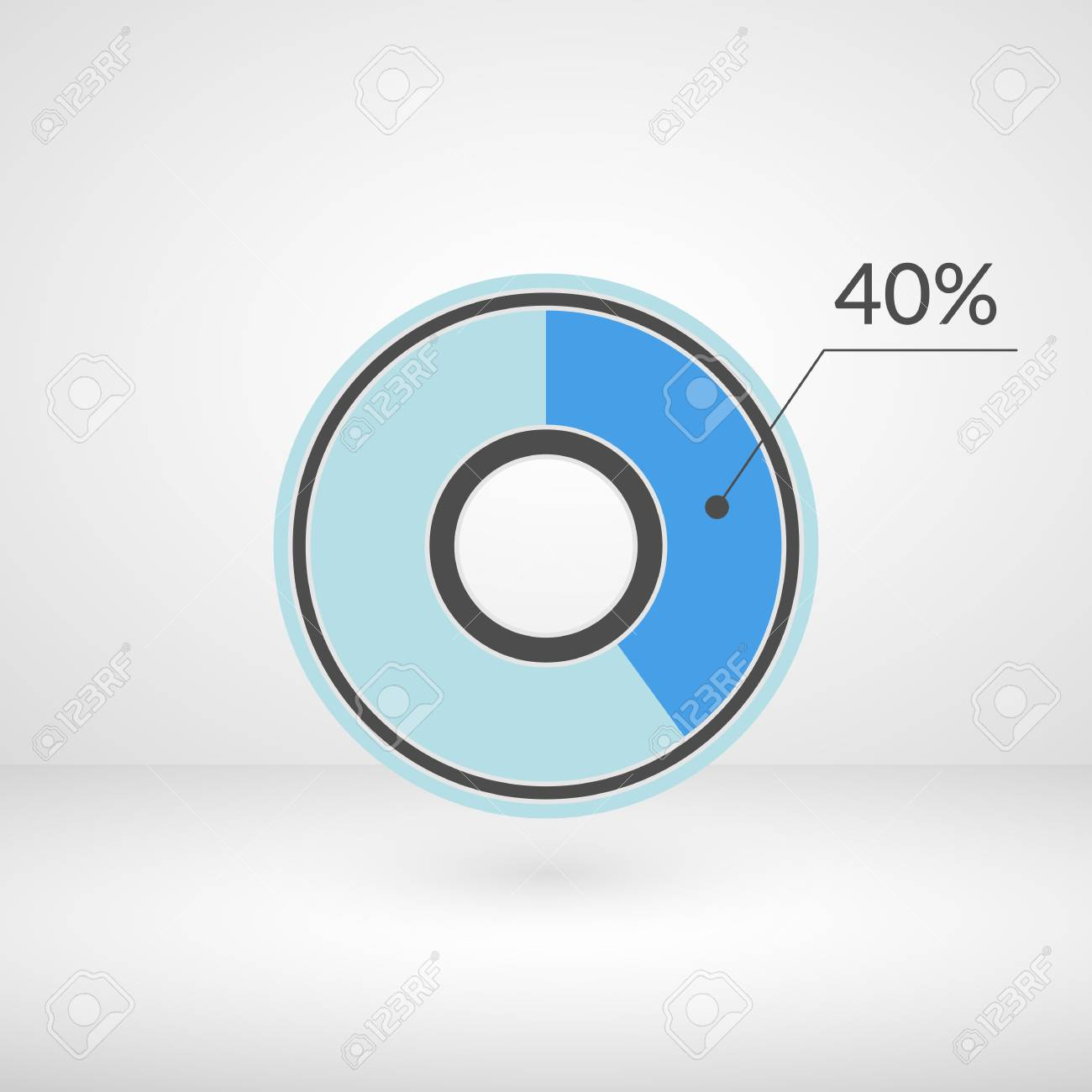 40 percent pie chart isolated symbol percentage vector infographics 40 percent pie chart isolated symbol percentage vector infographics circle diagram sign business ccuart Choice Image