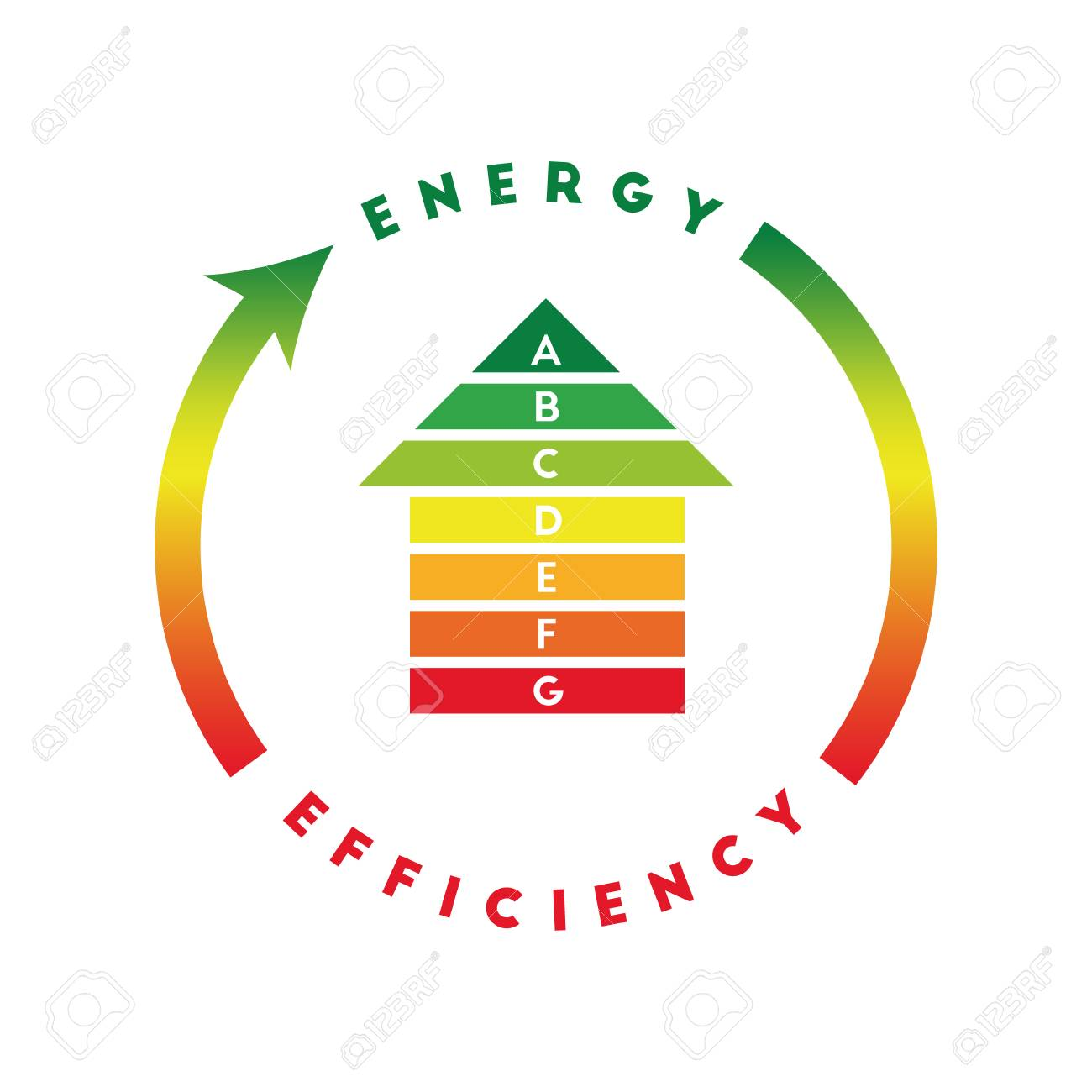 Superior Energy Efficiency Concept With House Made Of Energy Class Bars Stock Vector    77160631
