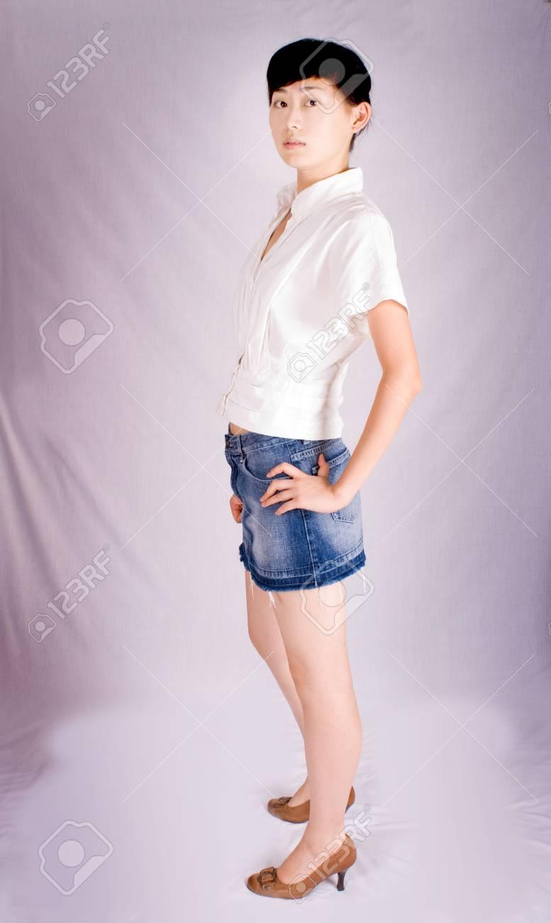 studio shoot of a beautiful young asian female - 3333620