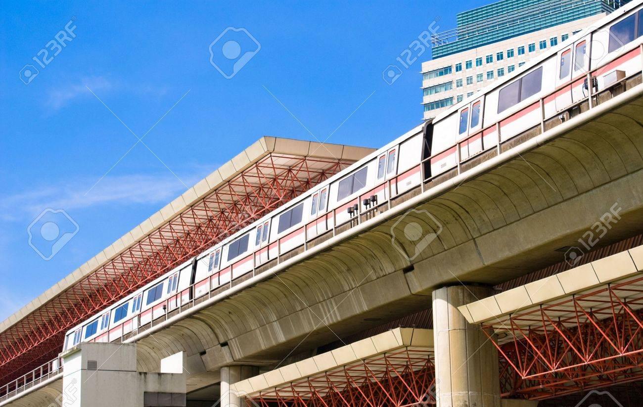 Modern Mass Rapid Transport Station in Singapore - 3501589