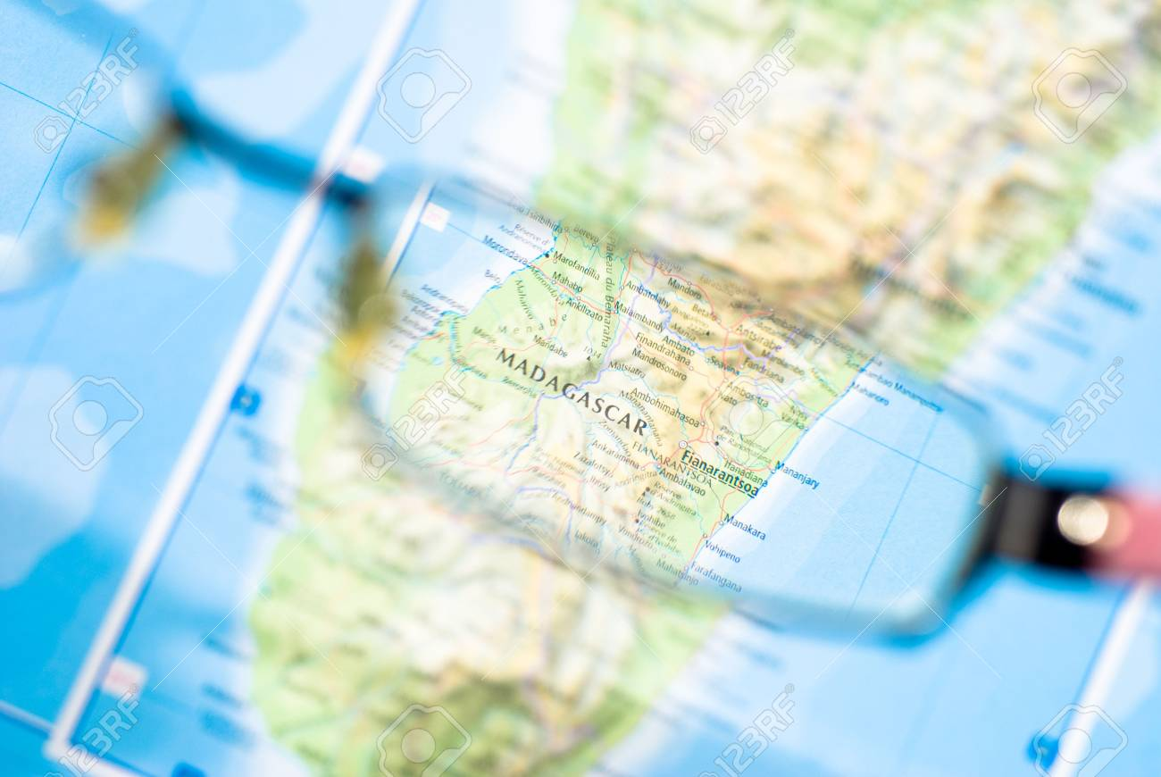 business destination selection from map of madagascar - 3991324