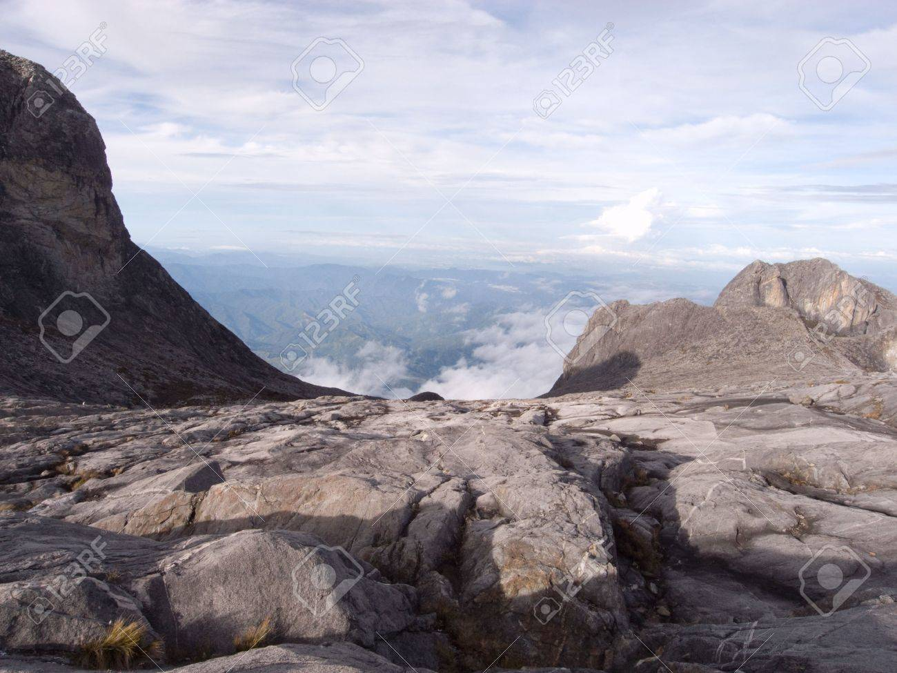 View from highest mountain in south east asia - 4104863