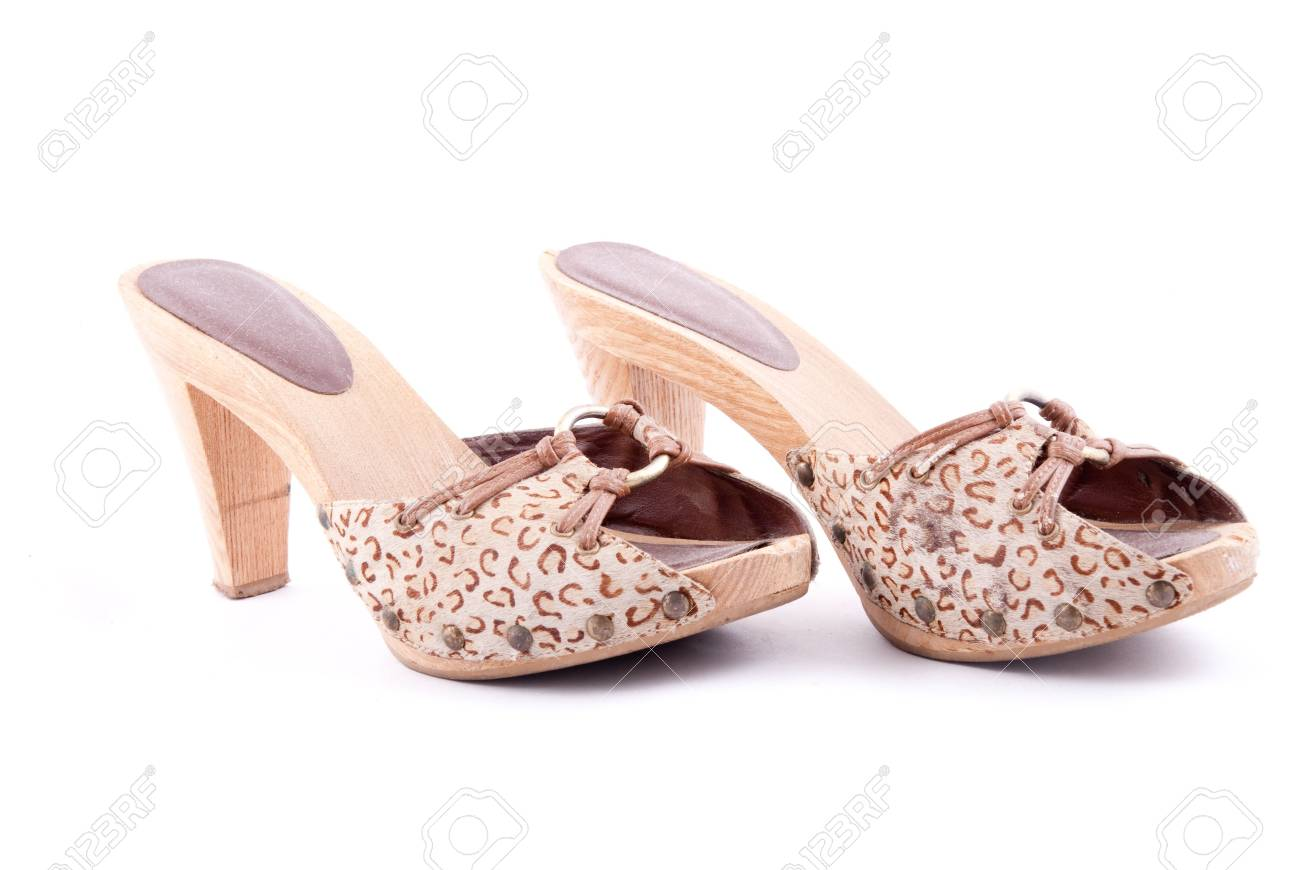 Stylish women summer foot wear isolated on white - 4420133