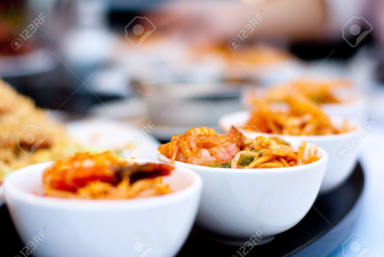 Delicious Chinese seafood dish in white plate - 4703968