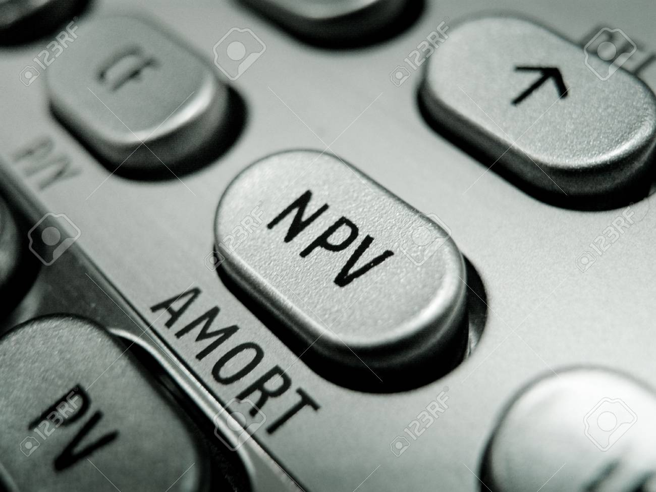 Selective focus on advanced financial calculator keyboard Stock Photo - 4793591