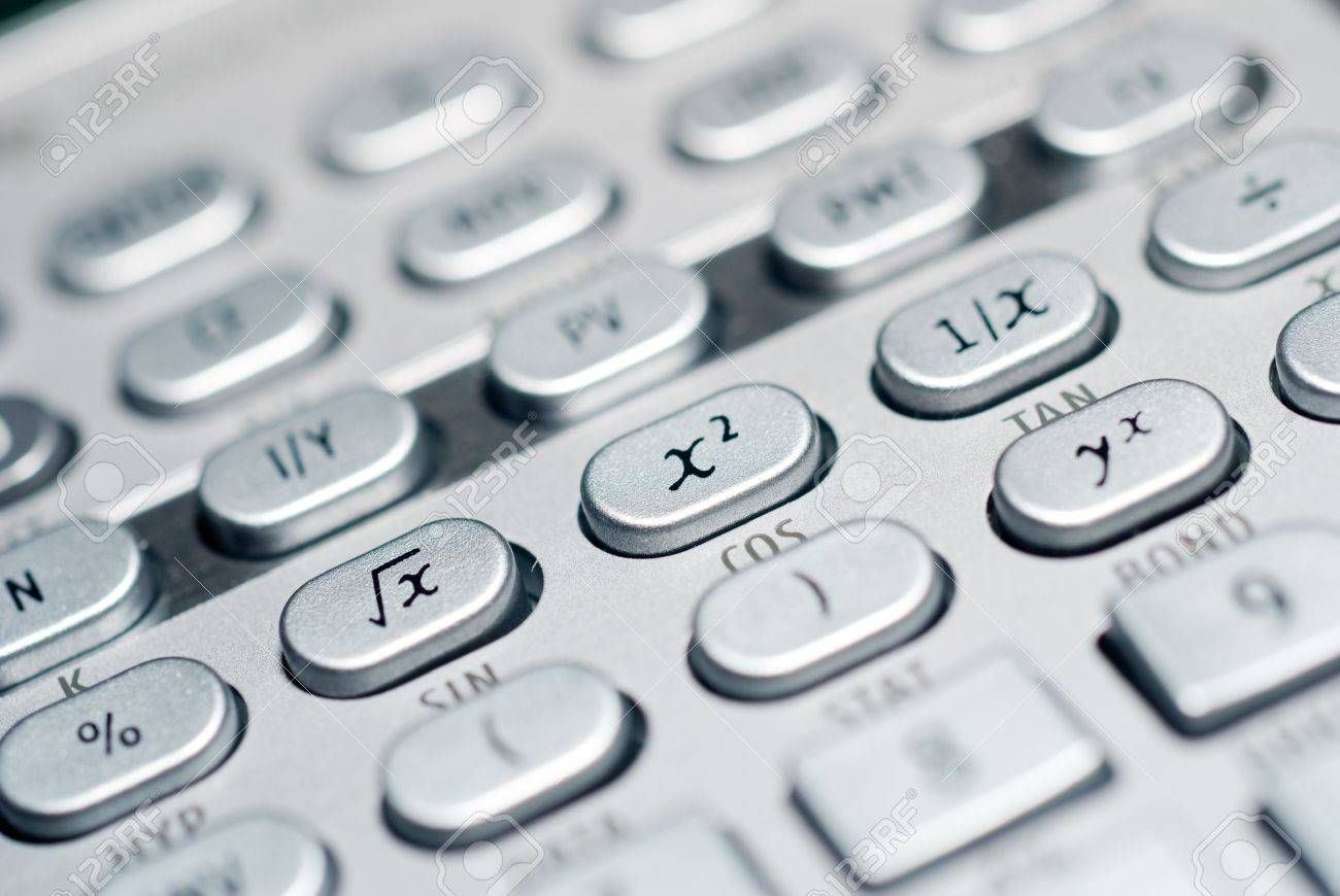 closeup of advanced financial analysis calculator background - 4827357