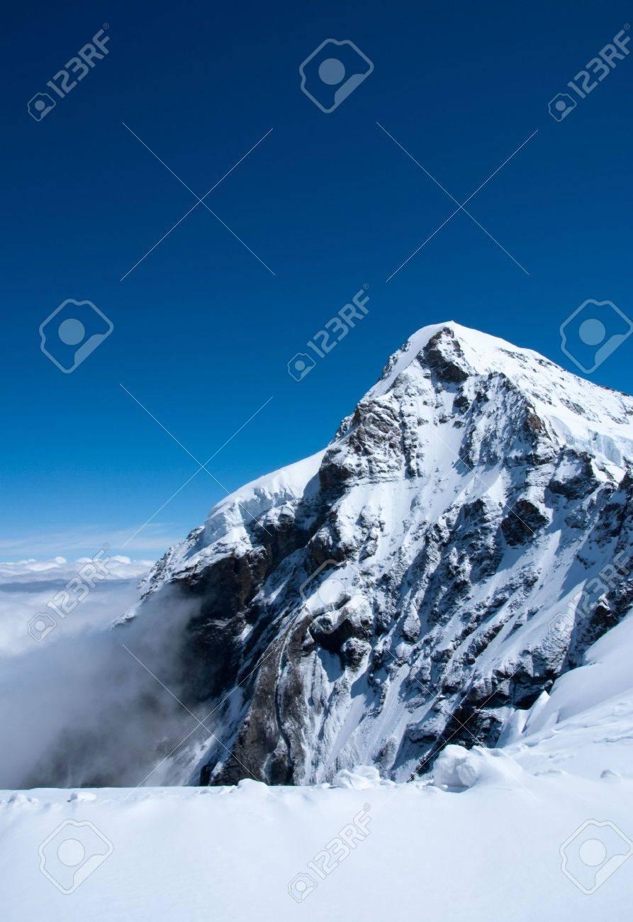 Summit of snow mountain in Switzerland in summer - 5264687