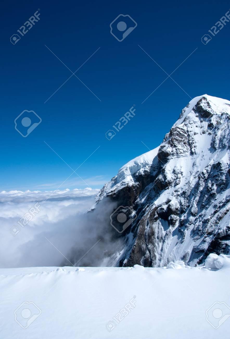 Summit of snow mountain in Switzerland in summer - 5264962