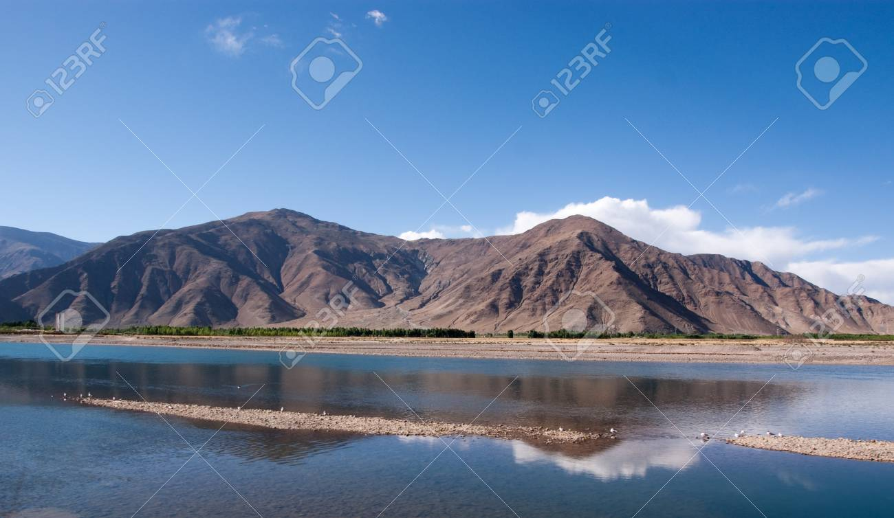 tibet landscape in western part of china - 7454708