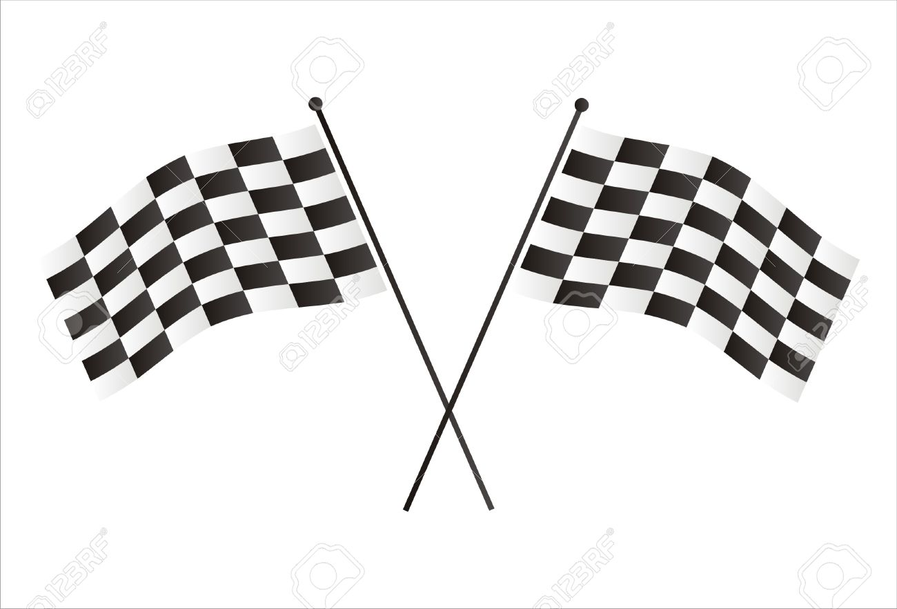 racing flags isolated on white Stock Vector - 7537541