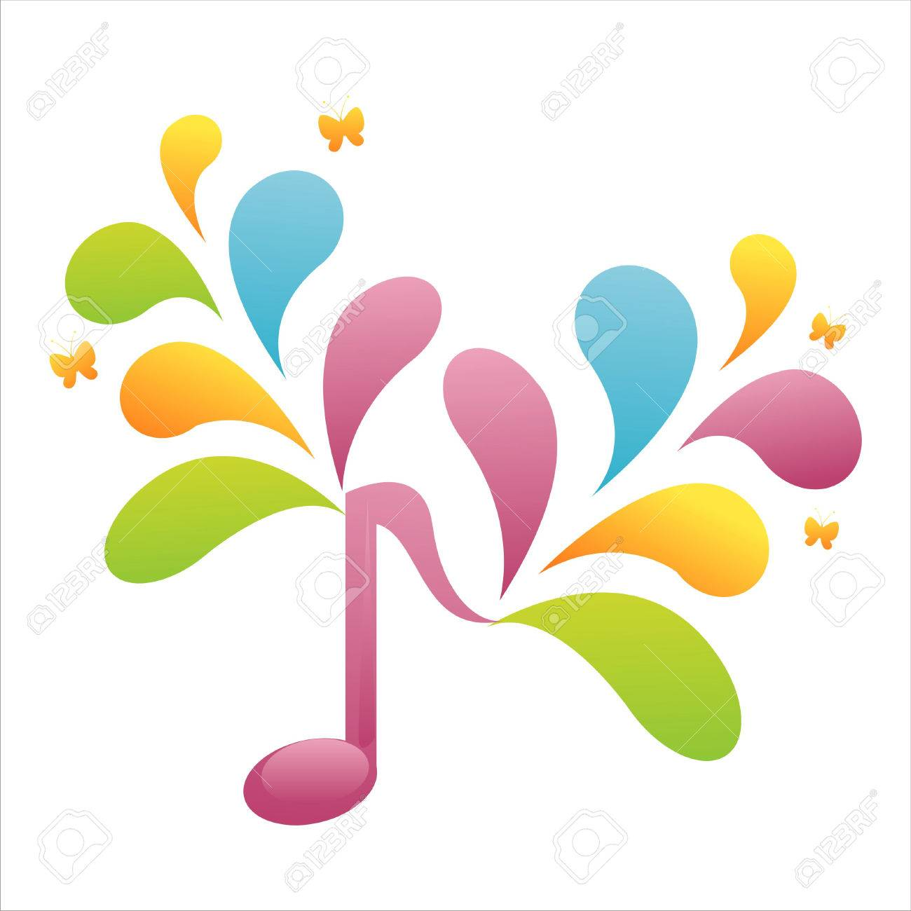 Colorful Musical Notes in 2020 | Music symbols, Music notes decorations, Clip  art borders