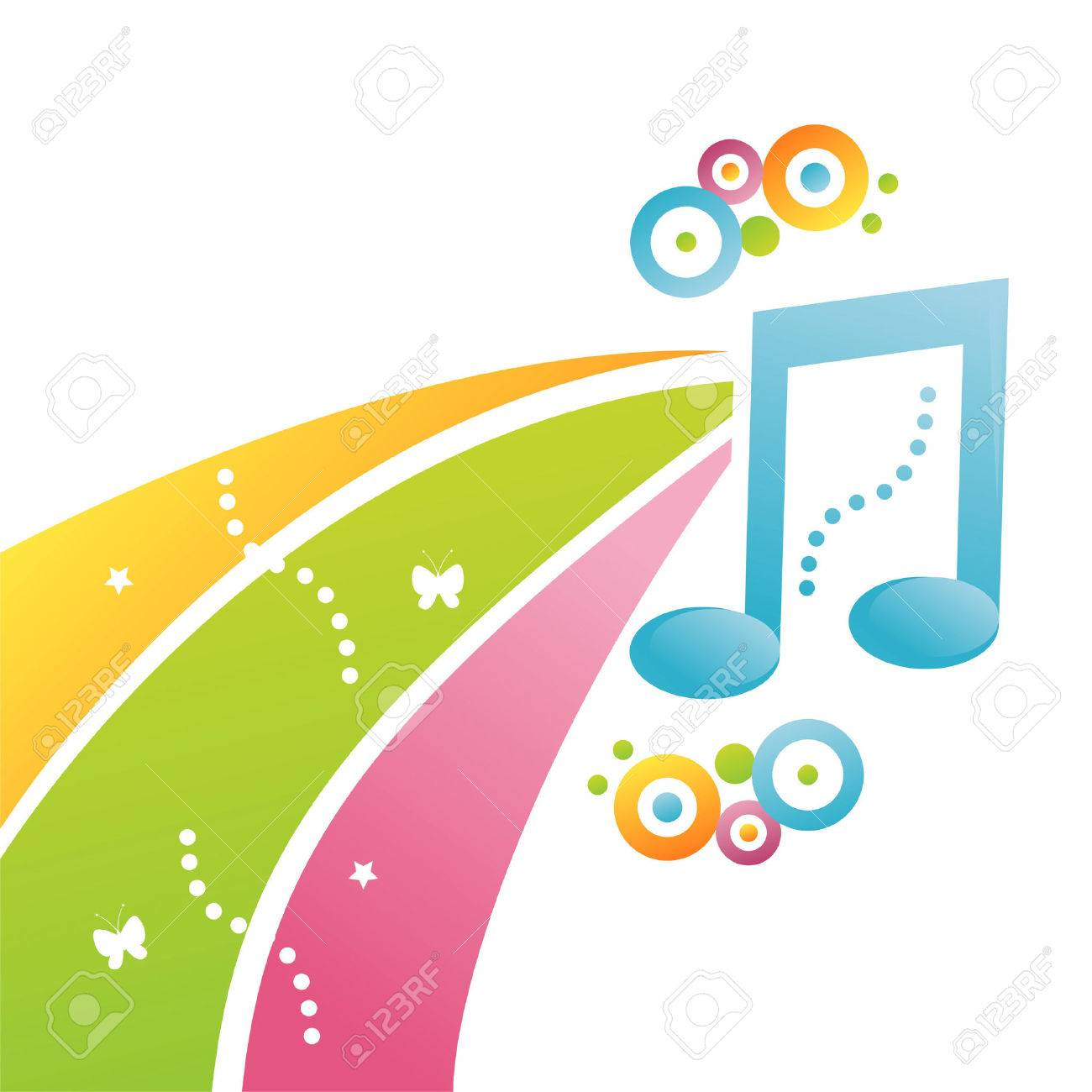 colorful musical background Stock Vector - 7726074