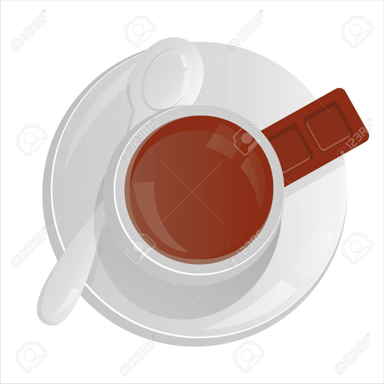 coffee cup isolated on white Stock Vector - 7825965