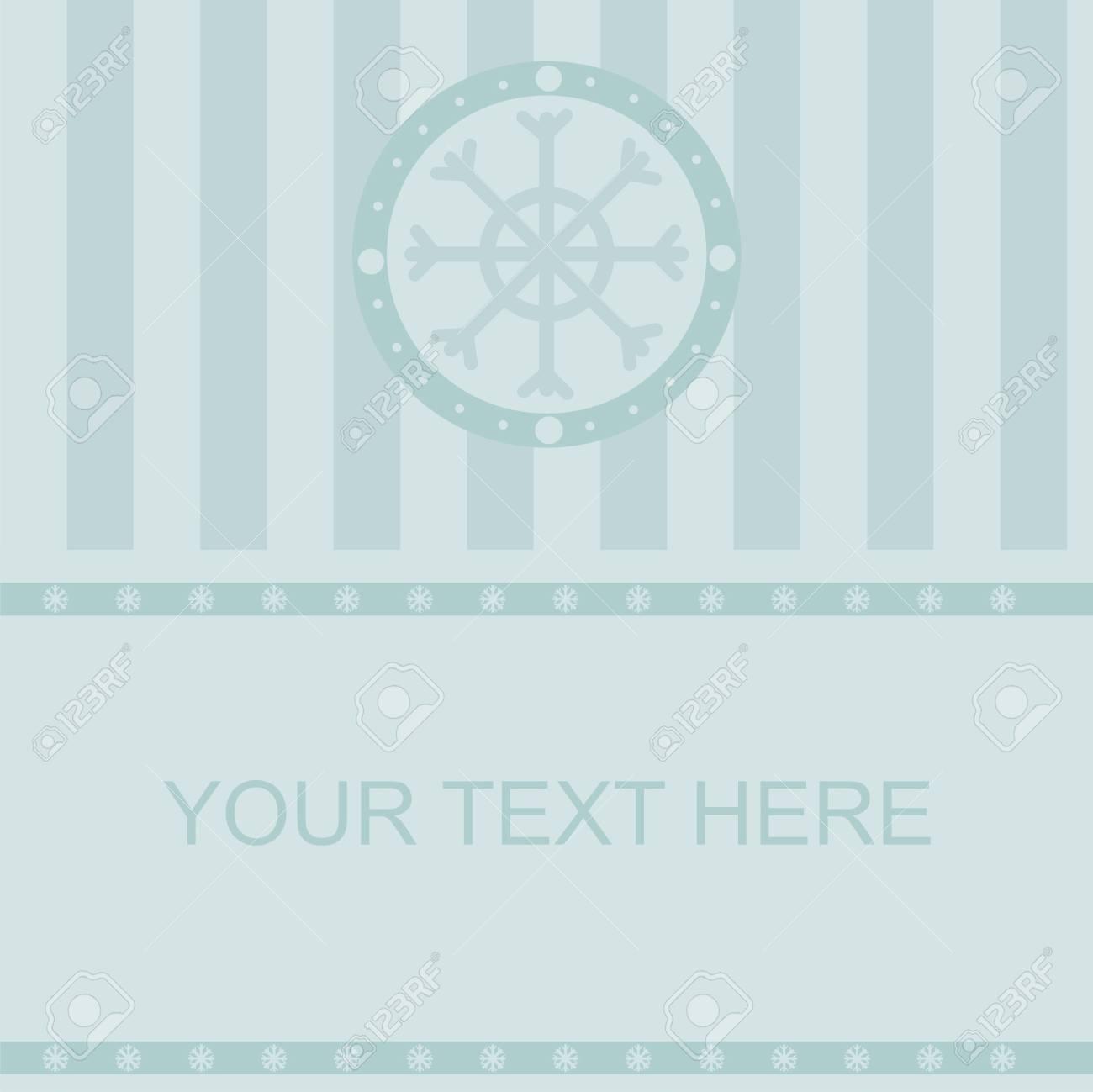 cute winter frame Stock Vector - 8103865
