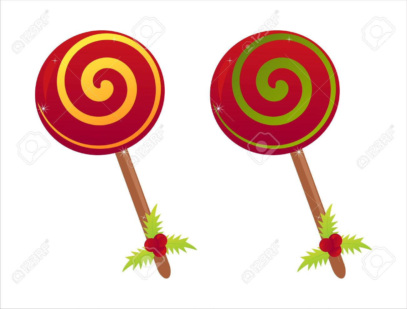 Set Of 2 Christmas Lollipops Royalty Free Cliparts Vectors And Stock Illustration Image 8361035