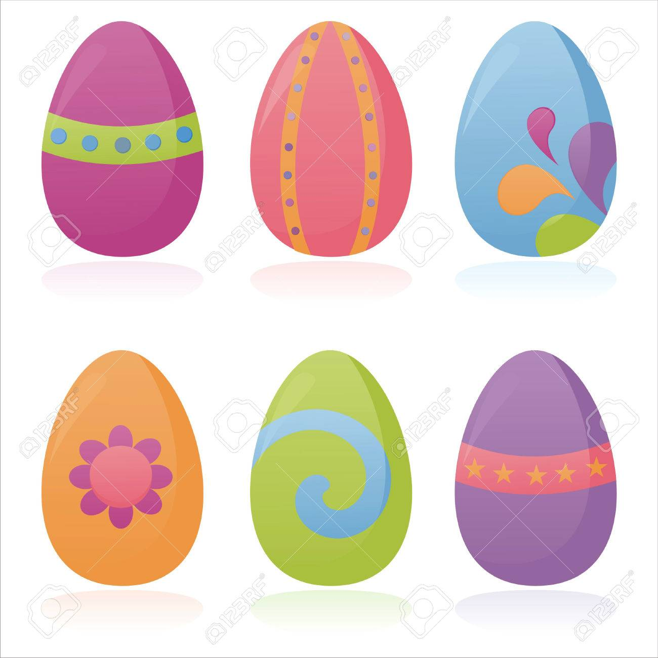 set of 4 colorful easter eggs Stock Vector - 8709316