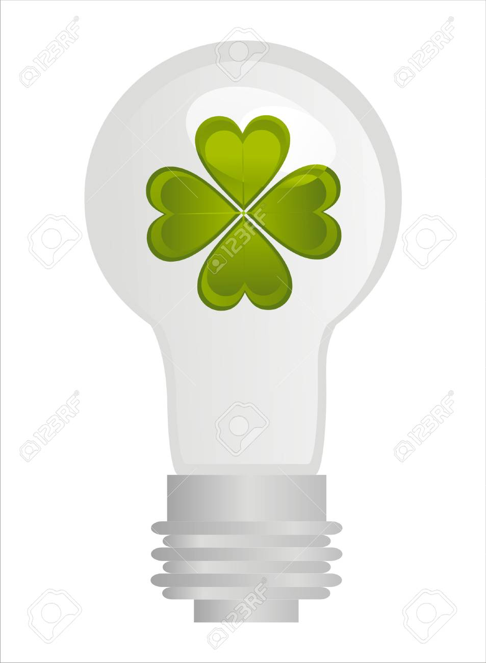 lamp with clover inside Stock Vector - 8777896
