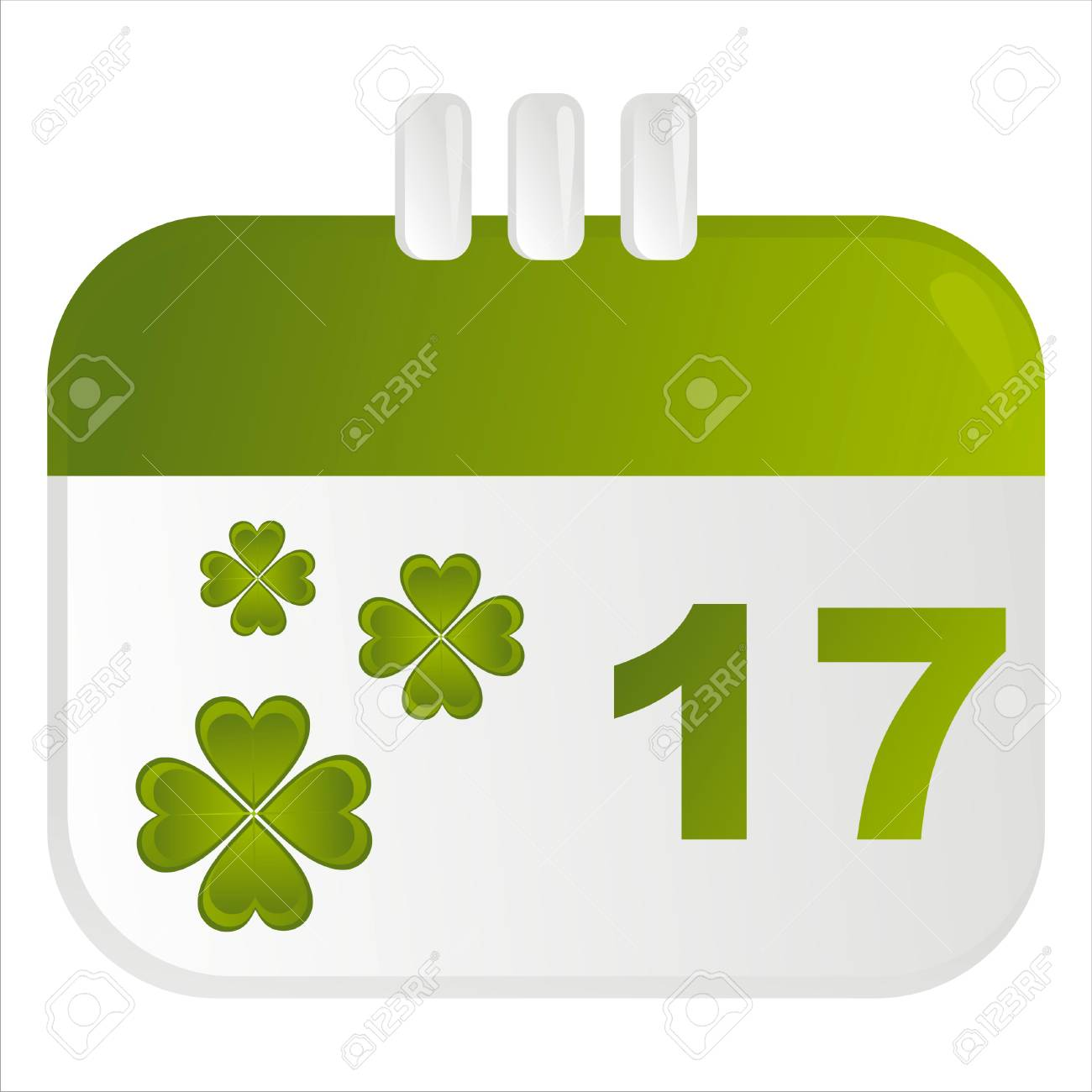 st. patrick's day calendar icon Stock Vector - 8777909