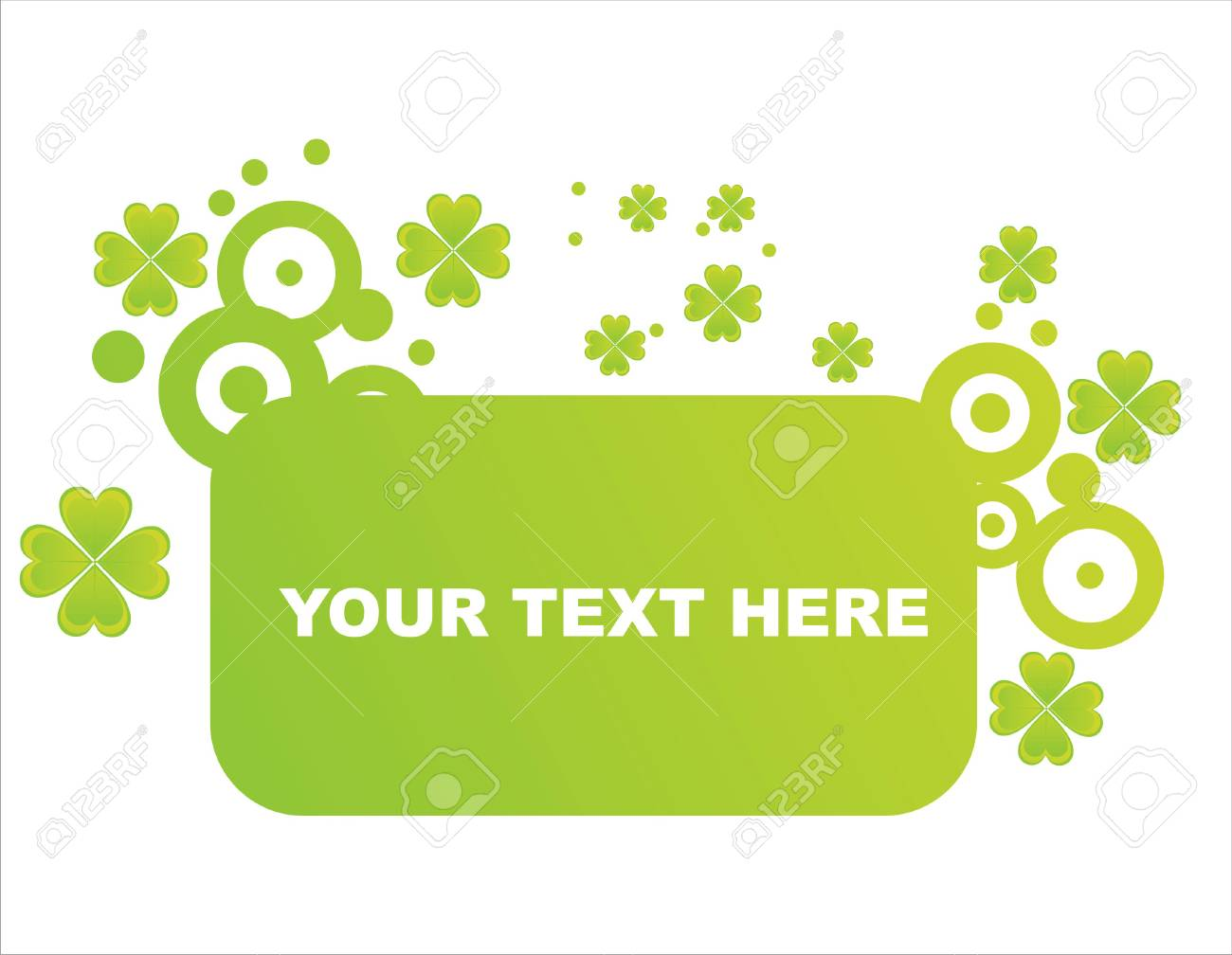 st. patrick's day frame Stock Vector - 8777920