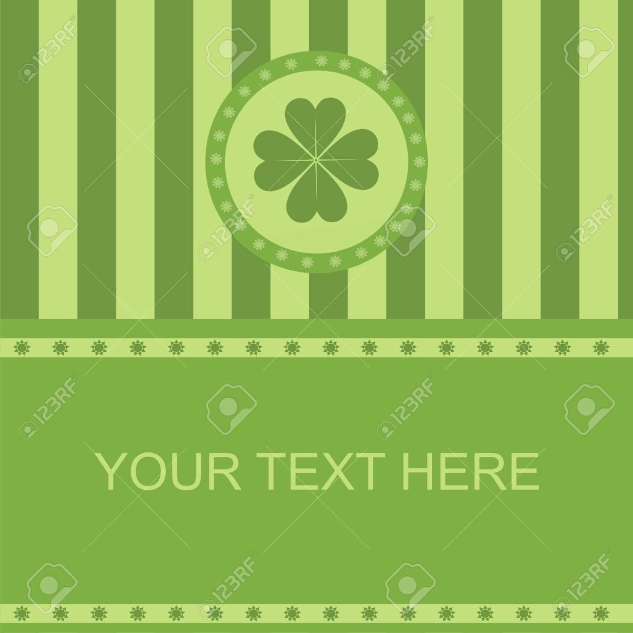 cute clover frame Stock Vector - 8777929