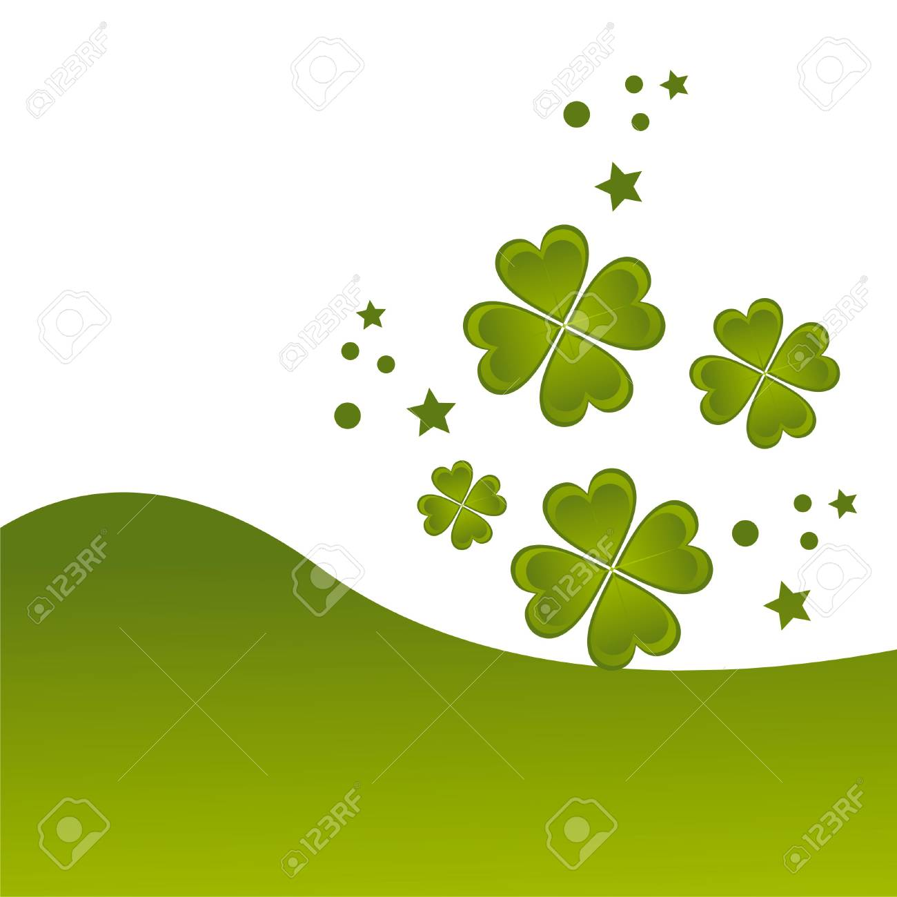 glossy st. patrick's day background Stock Vector - 8854979