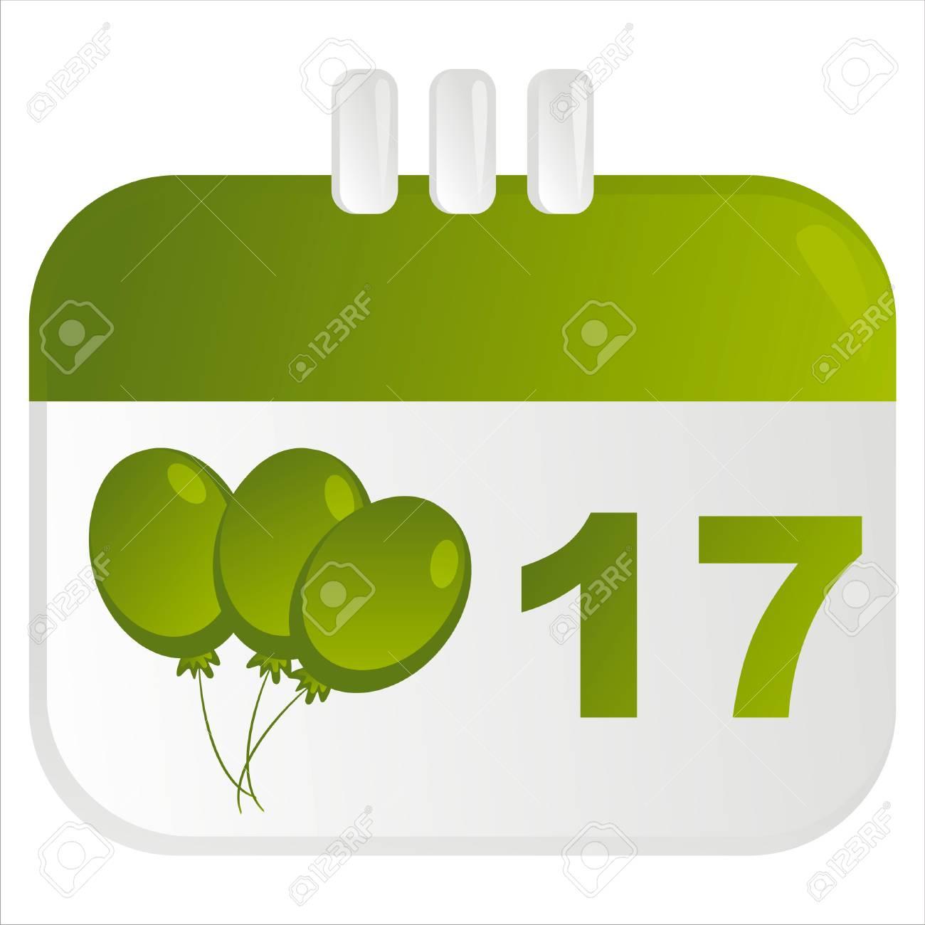 st. patrick's day calendar icon Stock Vector - 8898552