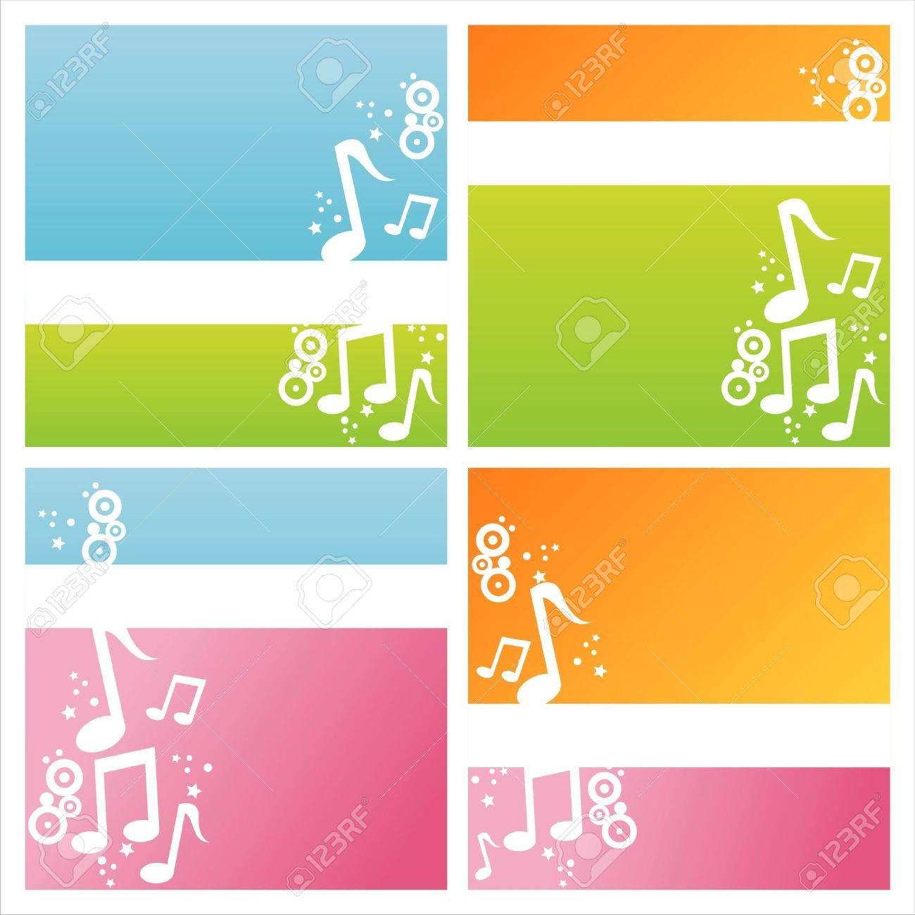 set of 4 modern musical backgrounds Stock Vector - 9173638