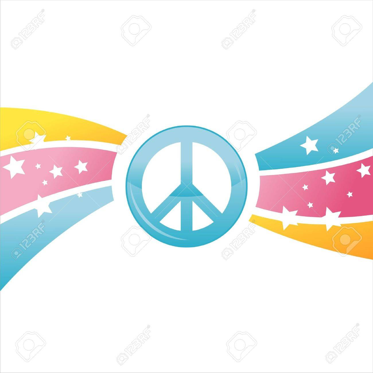 colorful peace background Stock Vector - 9665759