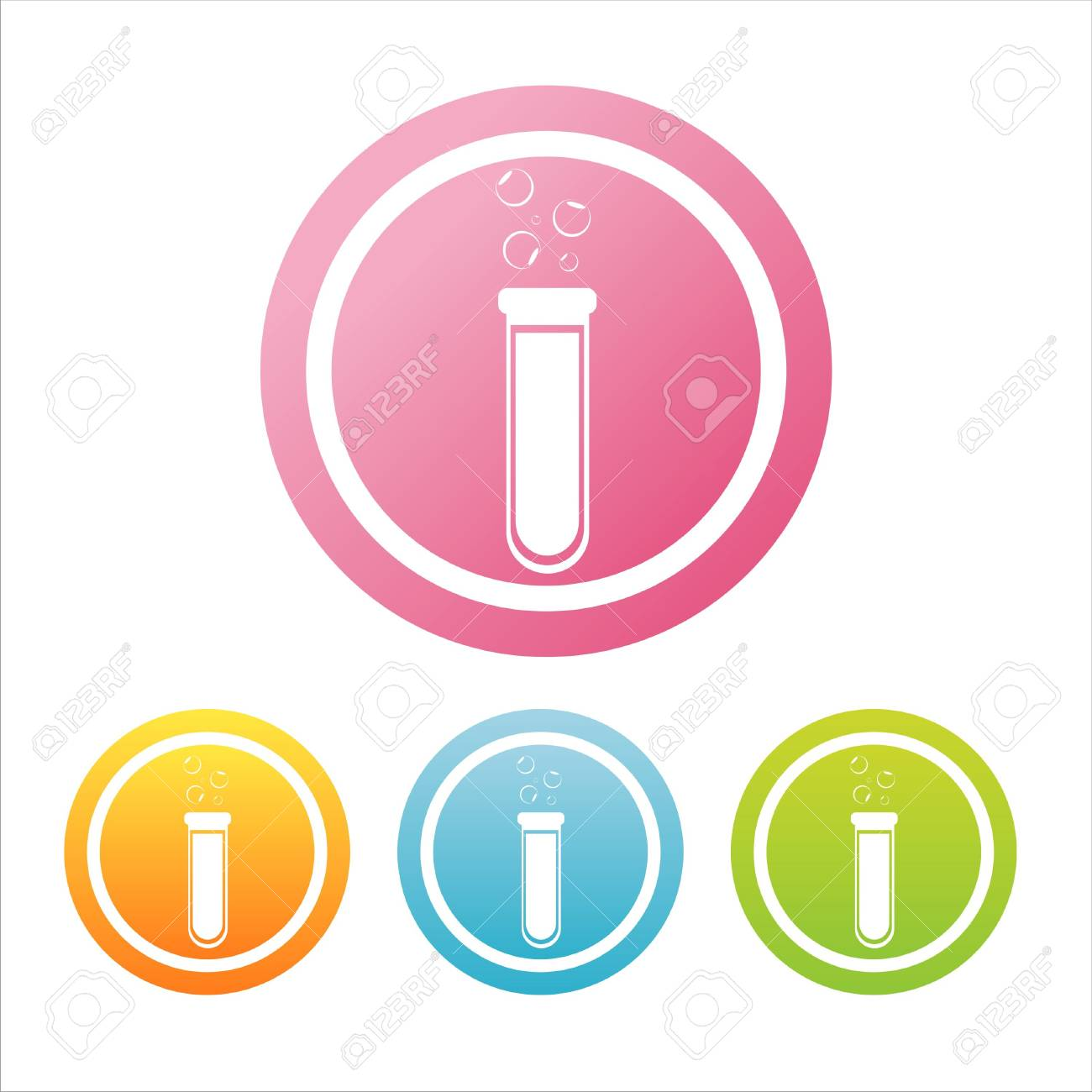 set of 4 colorful chemical signs Stock Vector - 10433145