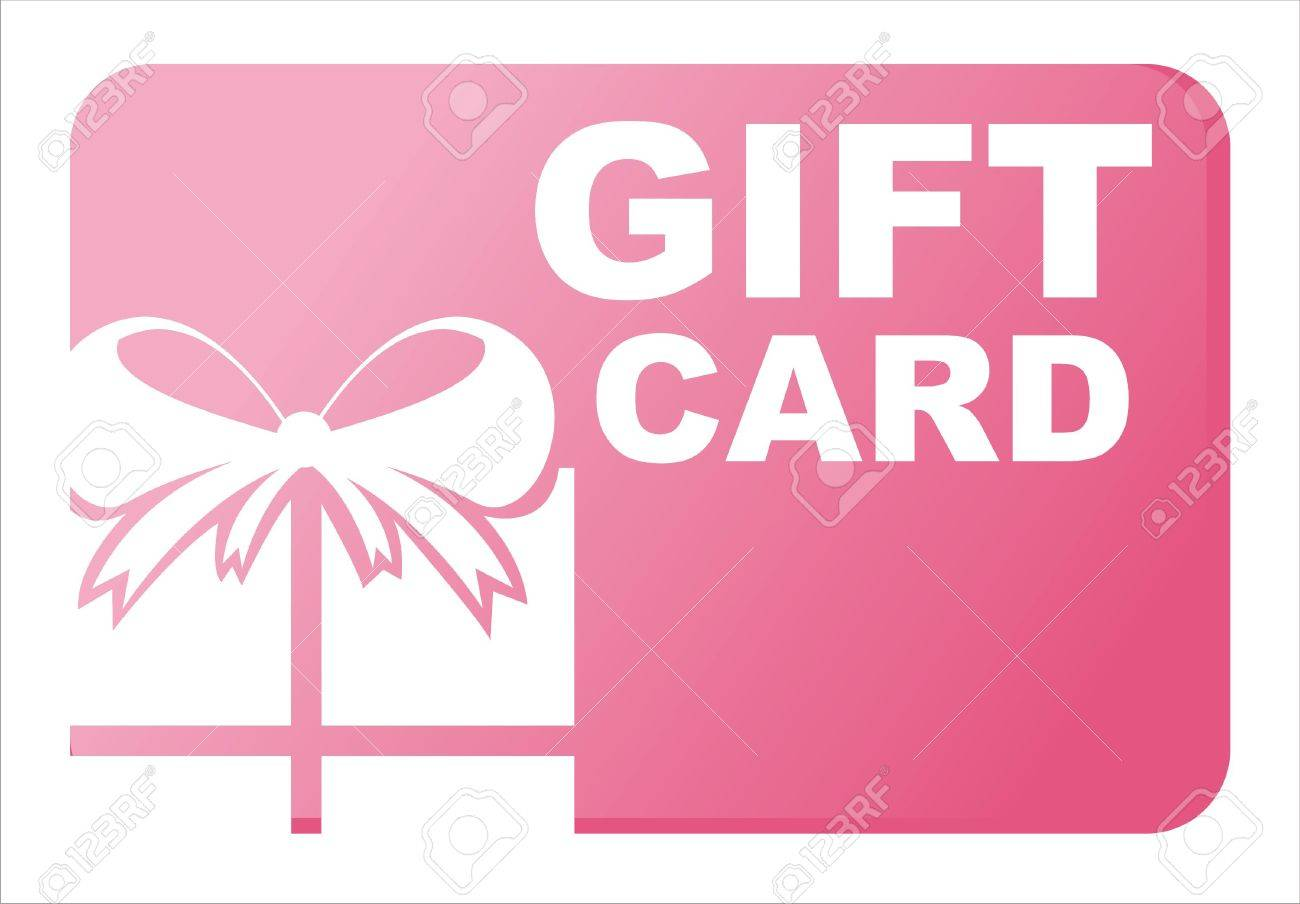 pink gift card isolated on white Stock Vector - 10866553