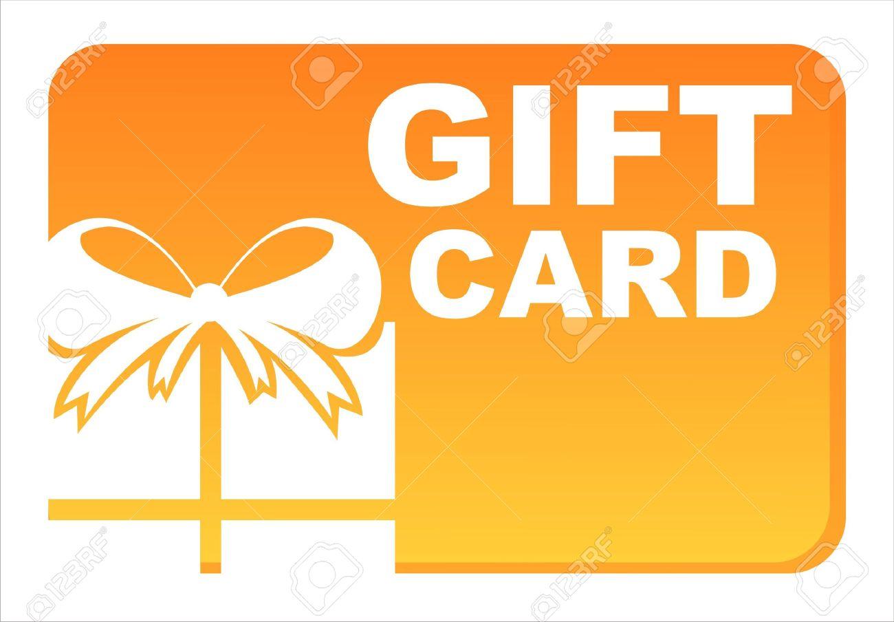 orange gift card isolated on white Stock Vector - 10964387