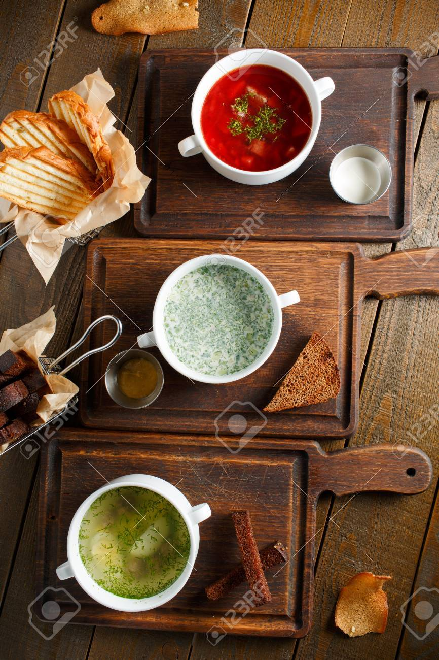 Trois Cuisine Ukrainienne Traditionnelle Differente De Russie Le