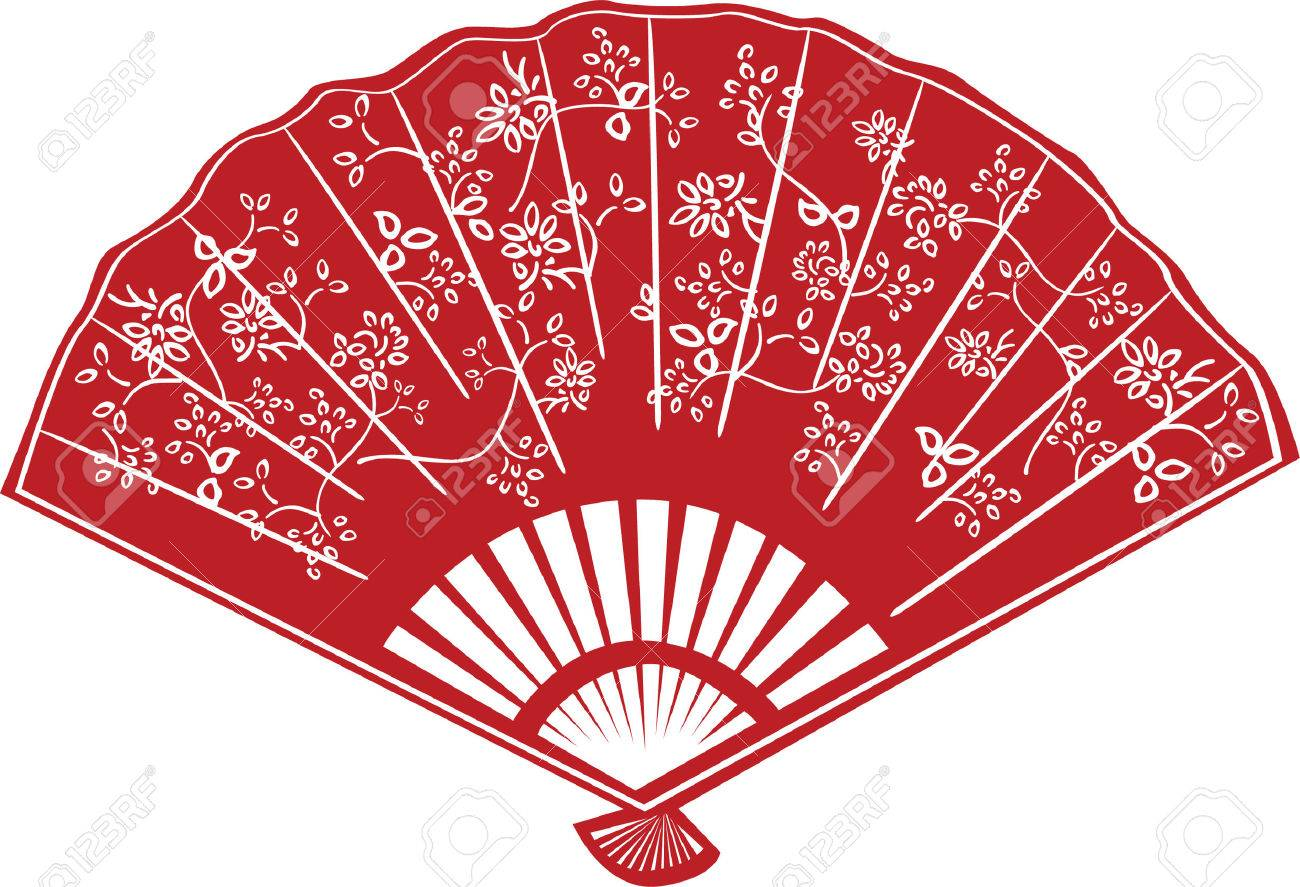 Chinese Fan Vector Traditional Chinese Fan Year