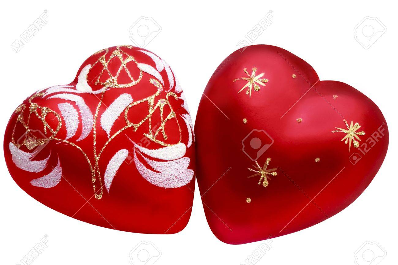 Two Hearts As A Symbol Of Love Between Two People In A Valentines