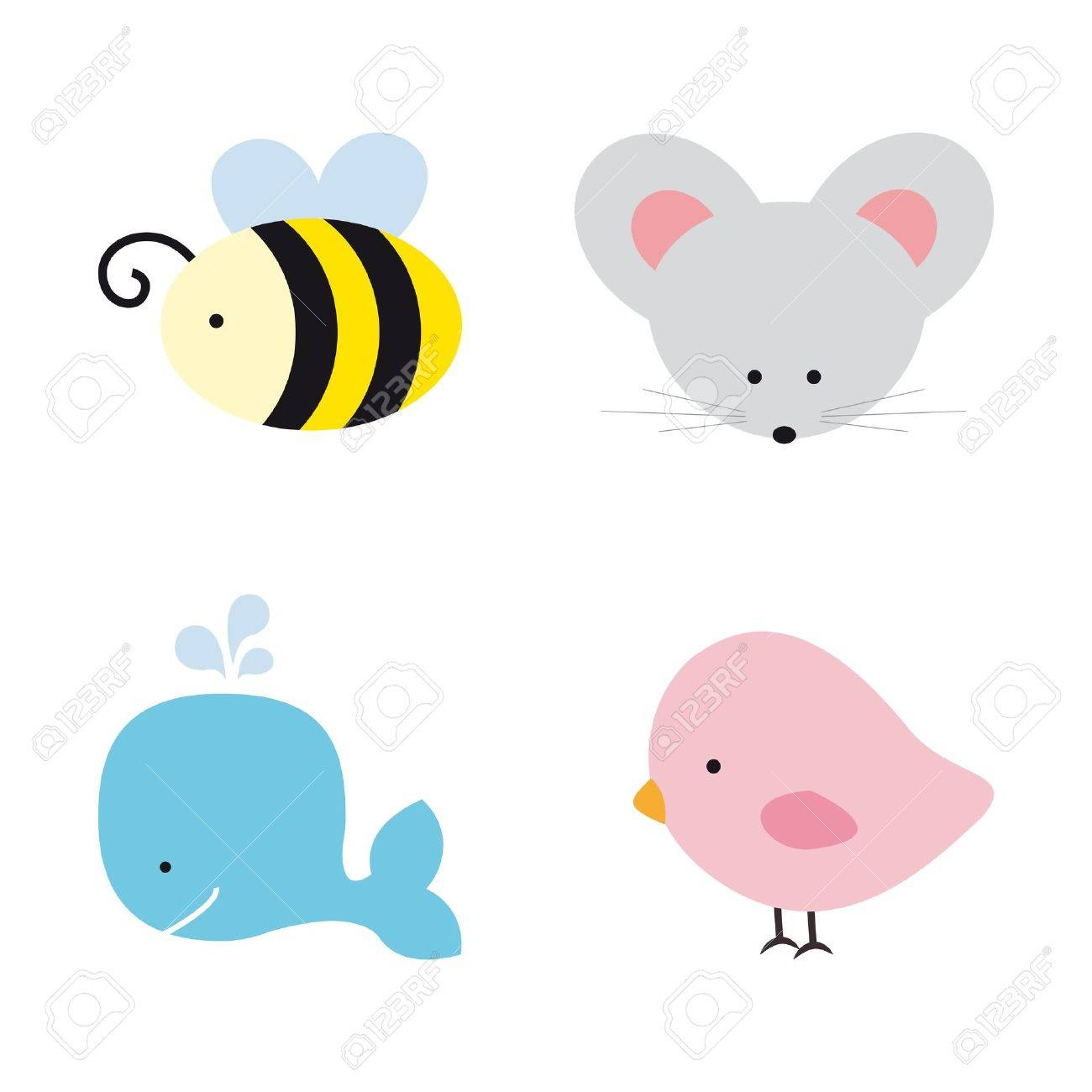 Cute Animals Stock Vector - 13835883