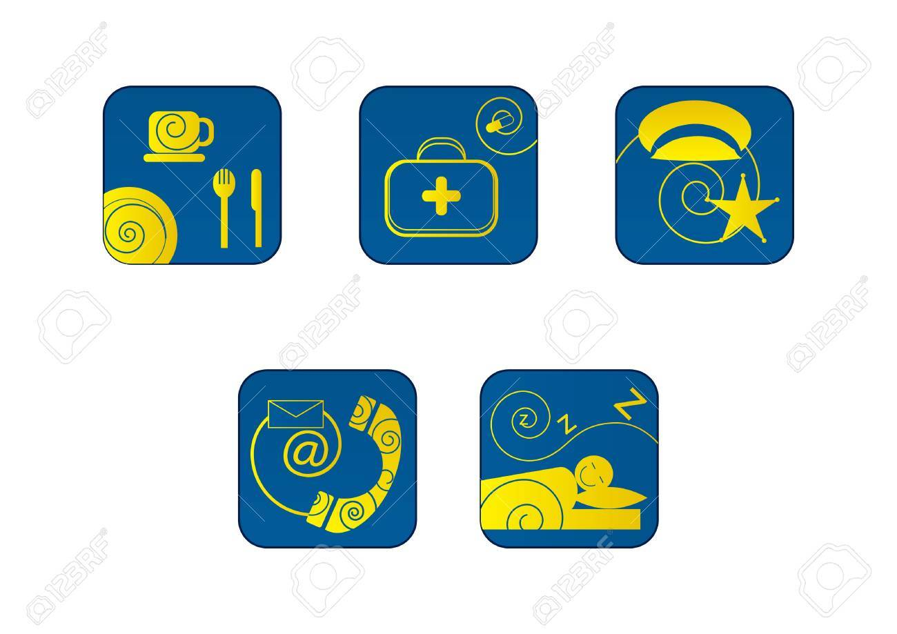 Icons Stock Vector - 9832127
