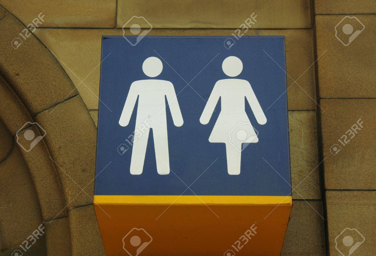 water closet sign at glasgow central station stock photo picture