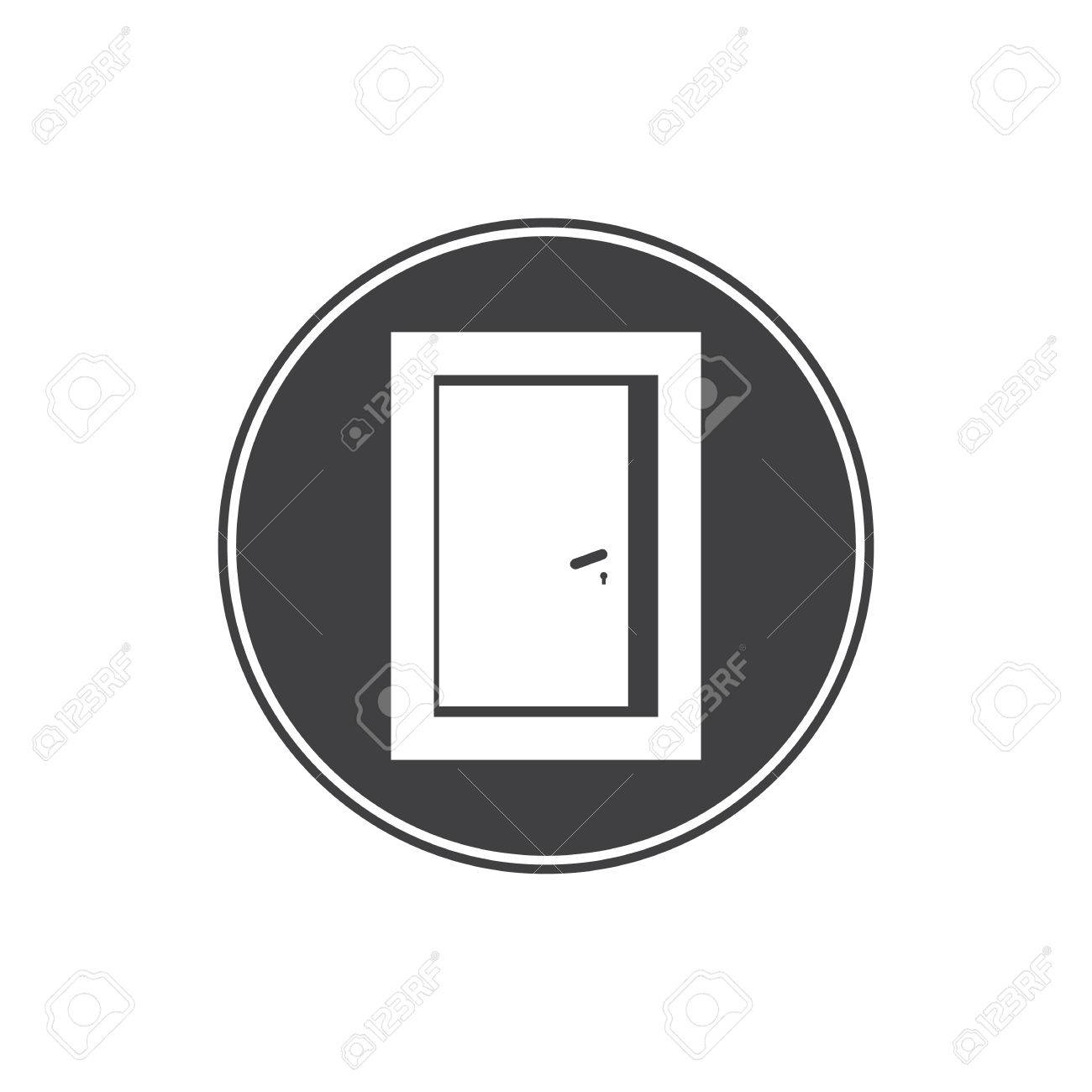 Open Door Icon Royalty Free Cliparts, Vectors, And Stock ...