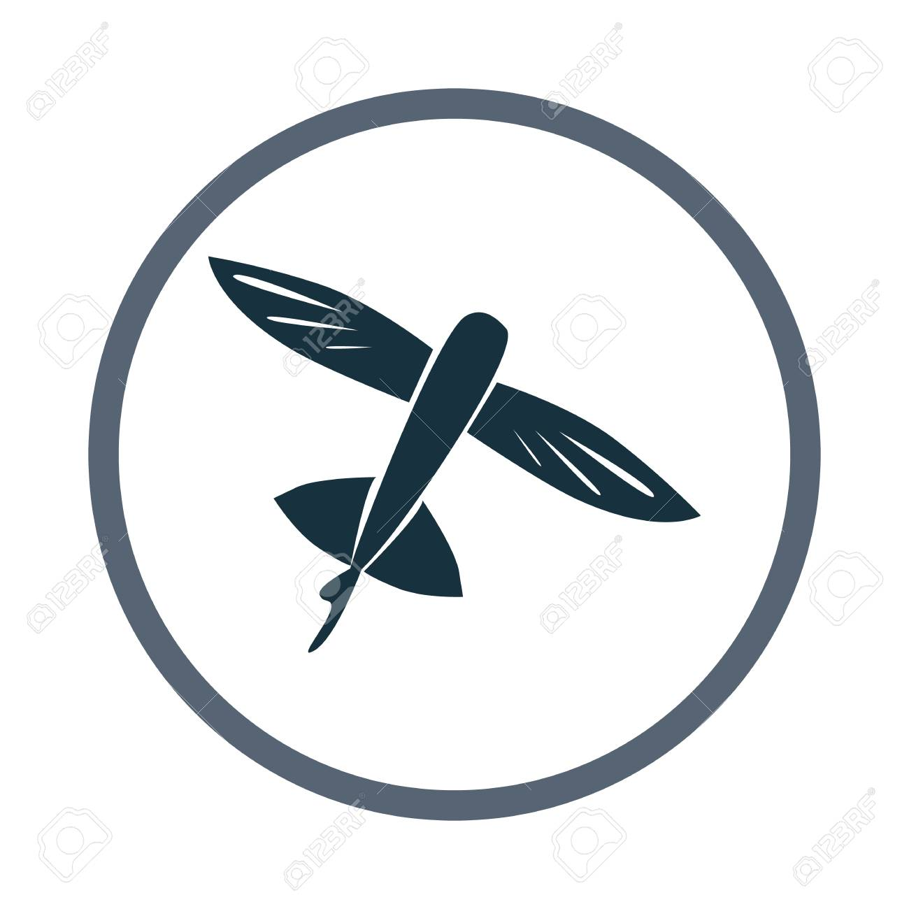 Flying Fish Icon Royalty Free Cliparts Vectors And Stock